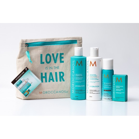 Moroccanoil Love is in the Hair Hydration Set Dark Tones