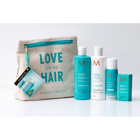 Moroccanoil Love is in the Hair Hydration Set Light Tones