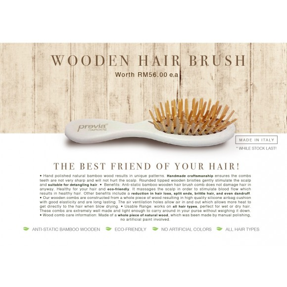 Previa Haircare  Mini Wood Hair Brush