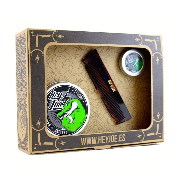 Hey Joe Survival Kit Strong (pomade strong 100ml, pomade strong mini 15ml, χτένα deluxe comb)