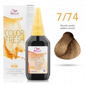 Wella Professionals Color Fresh 7/74 Ξανθό Καφέ Κόκκινο (75ml)