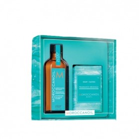 Moroccanoil Home & For All Hair Types Oil Treatment (100ml) Soap (200gr)