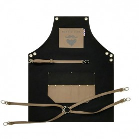 Novon Barber Apron Cuts & Shave 010 Black/Brown