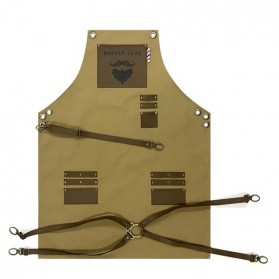 Novon Barber Apron Cuts &Shave 002 Khaki/Brown