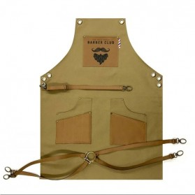 Novon Barber Apron Cuts &Shave 005 Oil Green/Brown