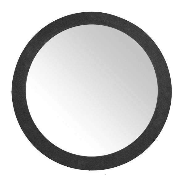 Καθρέφτης Κομμωτηρίου Με Χαμηλή Βάση Σε Μαύρο Χρώμα
