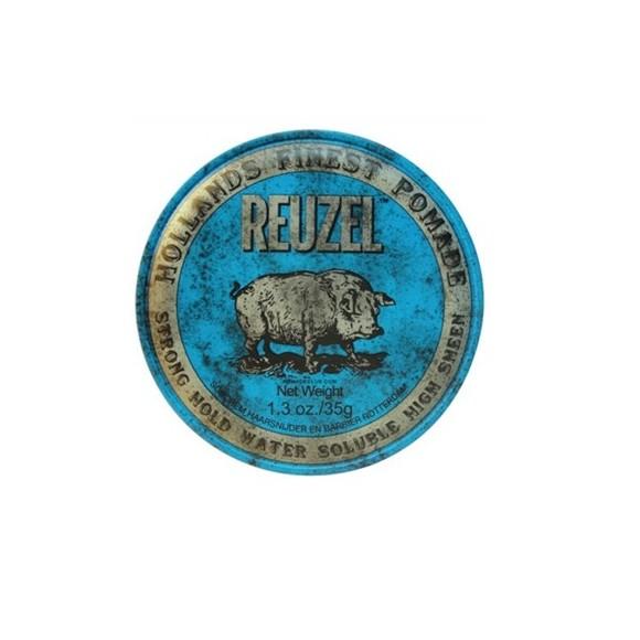 Reuzel Strong Hold Water Soluble High Sheen Pomade Blue PIGLET (35g)