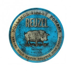 Reuzel Strong Hold Water Soluble High Sheen Pomade Blue PIG (113g)