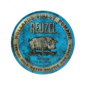 Reuzel Strong Hold Water Soluble High Sheen Pomade Blue HOG (340g)
