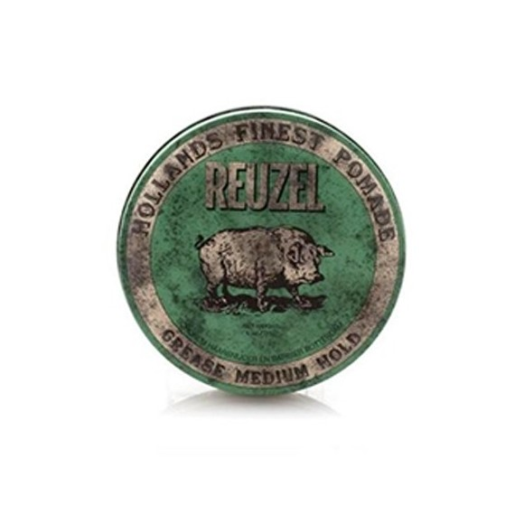 Reuzel Grease Medium Hold Pomade Green PIG (113g)