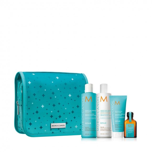 Moroccanoil Twinkle Twinkle Repair Set (Shampoo 250ml,Conditioner 250ml,Mask 75ml,Oil Treatment 25ml)