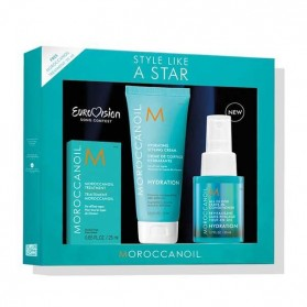 Moroccanoil Style Like A Star Eurovision Hydration Set (Oil Treat. 25ml,Hydration Cream 75ml,AllinOne Leav.In Conditioner 50ml)