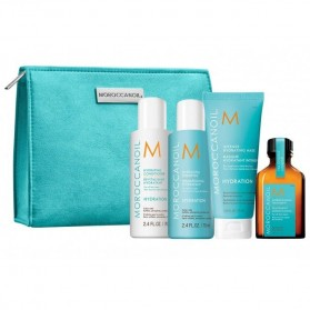 Moroccanoil Travel Set Hydration On the Go(Hydrat.Shamp.70ml,Hydr.Cond.70ml,Int.Hydr.Mask 75ml,Oil treat.25ml)