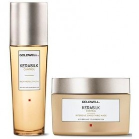 Goldwell Kerasilk Control Intensive Mask (200ml) & Protective Oil Pack (75ml)